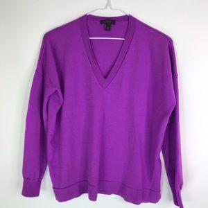 J crew Merino Wool V-Neck Sweater Pullover Small
